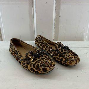 Talbots Cheetah Print Loafers 7.5